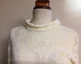 Velvet White Dress