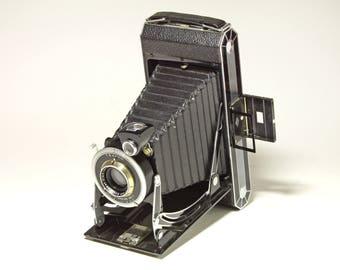 Vintage Kodak Six-16 Folding Camera, Art Deco Camera with Original Leather Case  - circa 1930's