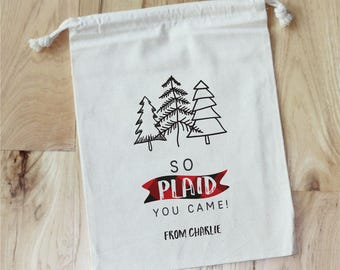 LUMBERJACK -  Personalized Favor Bags - Set of 10 - Wild One - Plaid - Fall - Outdoors - Adventure Birthday