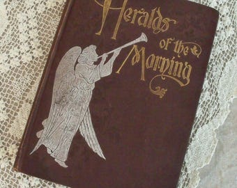 Vintage Book Heralds of the Morning Asa Oscar Tait Illustrated Christian