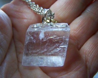 Viking Sunstone Iceland Spar Natural Optical Calcite Pendant