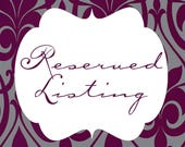 Reserved listing for tracymichael771