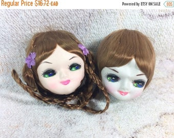 15% OFF Vintage Pose Doll Heads for Crafting Korea Bradley Dolls Doll Parts Cute Fabric