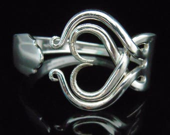 Silver Fork Bracelet, Spoon Bracelet, Vintage Wedding, Vintage Bracelet, Silver Wedding, Eco Friendly, Original Heart Design Number Three