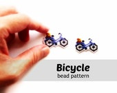 Brick Stitch Bicycle Pattern, Miyuki Delica Bead Weaving