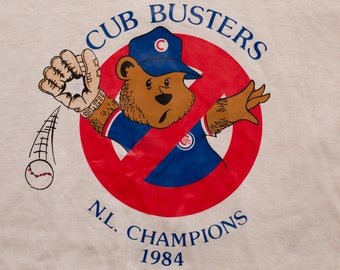 San Diego Padres 1984 Cub Busters T-shirt, Vintage 80s, NL Champions, National League Champs, MLB Baseball Team Apparel, Anti Chicago, Hef-T