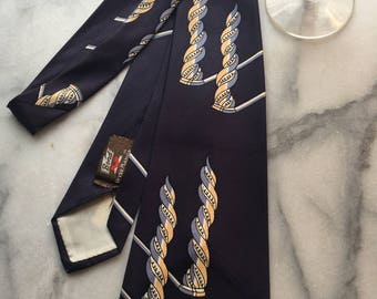 Vintage 1940s NavyNecktie by Style Manor