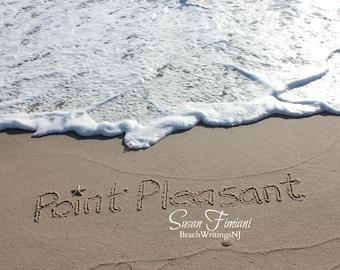 Point Pleasant Beach Sand Beach Writing  Fine Art Photo Jersey Shore