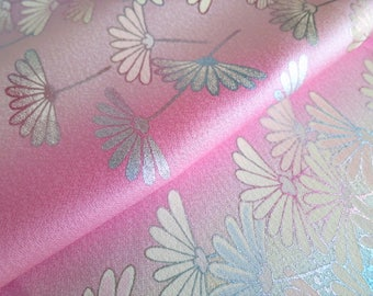 Japanese pure silk from Kyoto Pink Mum pattern No.3