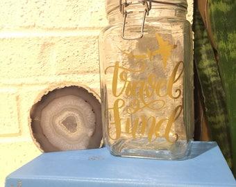 Travel Fund Coin Jar Adventure Fund Savings Jar Wanderlust World Map Money Jar Be The Change