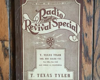 Vintage 1939 Radio and Revival Special Hymns Songs Book