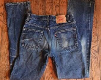 Vintage Levi's 517 Jeans USA 554 Button 31 x 36