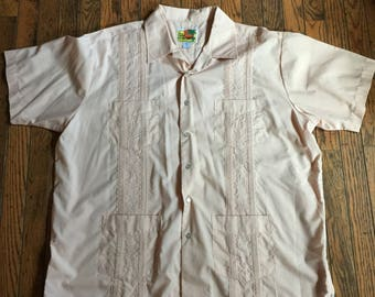 Vintage Men's Haband Guayabera Shirt Size XL