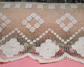 Antique Lace Doily 1920s Sheer Lace
