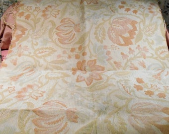 Vintage Fabric Upholstery Cream and Ivory
