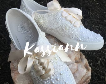 Bridal Lace Wedding Sneakers