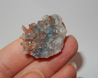 Papagoite included Quartz Crystal cluster with copper