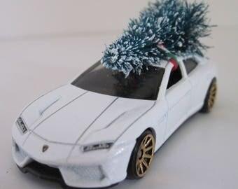 Lamborghini Estoque   Hot Wheels   CHRISTMAS Ornament, Christmas Village  Decoration   Christmas Tree Tied