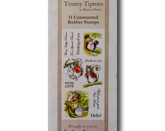 Beatrix Potter Rubber Stamp Set - Timmy Tiptoes by Crafter's Companion