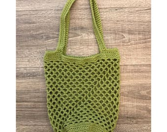 Crochet Market Bag | Green