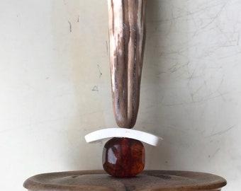 Native American Bone & Wood Carving Sculpture
