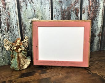 11 x 14 Picture Frame, Rustic Weathered Coral Style With Routed Edges, Home Decor, Rustic Home Decor, Wooden Frame, Rustic Wood Frame, Coral
