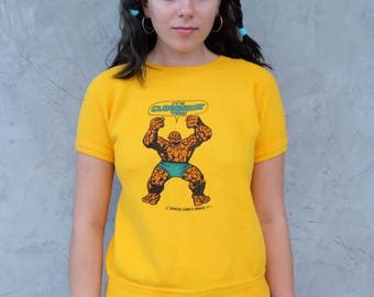 1975 Marvel Comics The Thing Sweater Tee Fantastic 4