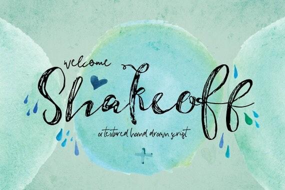 Digital Fonts Shakeoff Script Font, Brush Wedding Font, modern Calligraphy, Signature Typeface, Hand Written font