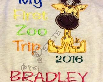 Giraffe zoo shirt, safari shirt, boy shirt, boys clothing, girls shirt, girls clothing, toddler shirt, toddler clothing, onepiece, clothing,