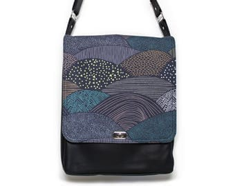 Crossbody bag vegan, vegan satchel, everyday womens bag, messenger bags, vegan leather, minimalist women bag, black bag, blue bag,Hello Bear