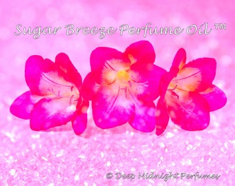 SUGAR BREEZE™ Perfume Oil - Sugar Crystals, Sugared White Amber, Freesia Flowers, Sparkling Water, Ginger - Sweet Floral Perfume