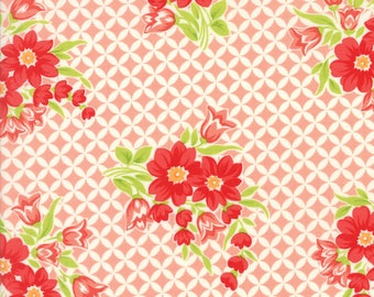 Handmade Gwendolyn Coral by Bonnie and Camille for Moda, 1/2 yard cotton fabric