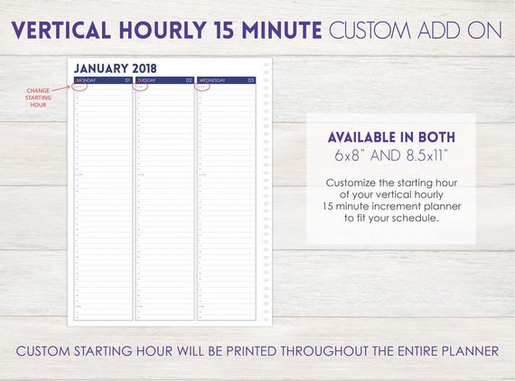 hourly time schedule