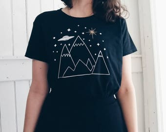Mountains and UFO Shirt
