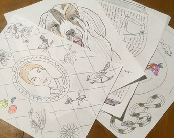 Emily Dickinson Coloring Pages series 1