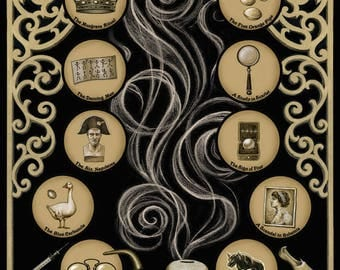 Sherlock Holmes Poster, Arthur Conan Doyle, Victorian Poster, Gothic Art, Victorian Print, Literary Poster