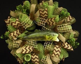ON SALE Elegant Wreaths,  Everyday Wreaths, Poly Mesh Wreath, Deco Mesh Wreath, Front Door Wreath (1088)