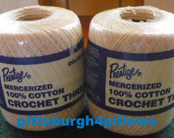 Newly Listed - Prestige - 100% Cotton Crochet Thread - 160 Ecru - 400 Yards - Price Is For All