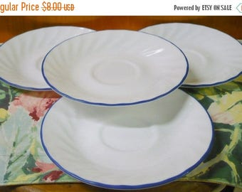 CHRISTMAS IN JULY 4 - Blue Velvet Rose - Corelle - Saucers - 6 1/4 Approx. - Euc - Price Is For All - Read Below