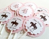 Pony Cupcake Toppers and Note Cards