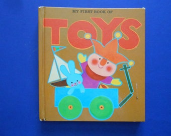 My First Book of Toys, a Children's Vintage Hallmark Board Book