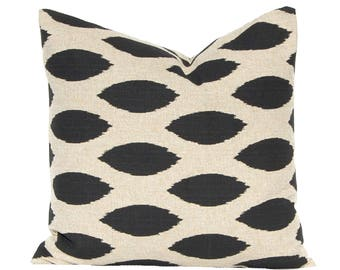 euro sham black pillow cover 22 x 22 or 24 x 24 or 26