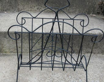 mid century magazine rack black metal rack painted rack mid century decor