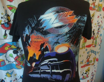 Vintage ZZ TOP 1990 Recycler z.z. top Deadstack New Concert Tour T Shirt Adult Size M