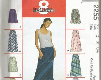 McCall's 2255 Women's 8 Great Looks Skirt Pattern SZ 12-16  CLEARANCE ITEM