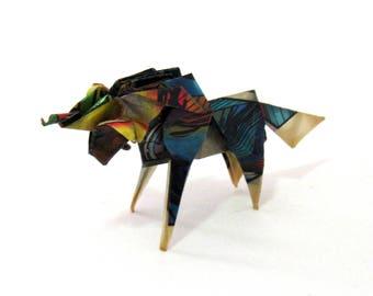 FIGURINE 50mm origami unicorn sculpture
