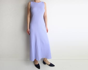 VINTAGE Tank Dress 1990s Pastel Purple Maxi Dress XS