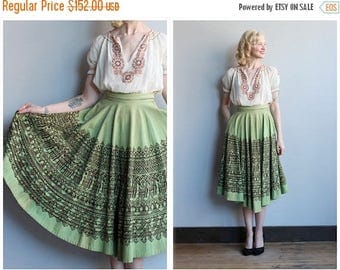 20% Off Sale // 1950s Skirt // Londy of Mexico Circle Skirt // vintage 50s Mexican Skirt