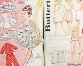 2 Vintage Girls' Lingerie Sewing Patterns Sz 6 & 10 1960's RARE Petticoat Slip Pajamas Undergarment Foundation