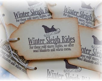 Winter Sleigh Rides - Blankets and Cocoa offered - Gift/Hang Tags (8)
